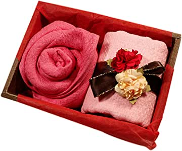 TowelMarket【ギフト プレゼント 薔薇 】 両面ガーゼ織 ローズ フラワー タオルセット(2枚組) 【 誕生日 お祝い 引き出物 】