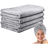 Ultra-Fine Microfiber Hair Drying Towels 44 x 24.5 Inches Thicken Lengthen - Simone&Jerry Original Magic Instant Hair Dry Wra