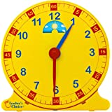 "Learn How to Tell Time Teaching Clock – Large 12"" Classroom Demonstration Night and Day Learning Clock"