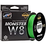 SeaKnight W8 8 Strands Braided Lines 300M/500M Smooth PE Braid Multifilament Saltwater Fishing Lines for Sea Fishing 15-100LB