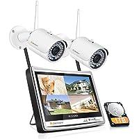 防犯カメラ ワイヤレス 屋外 500万画素 2台 家庭用 無線 監視カメラ 屋外 ネットワークカメラ wifi 録音機能…