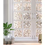 rabbitgoo Glass Window Film, Decorative Window Stickers, Privacy Window Clings, Static Cling Door Window Covering, Stained Gl