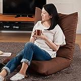 ドウシシャ(DOSHISHA) ブラウン 本体サイズ:(約) 幅70×奥行70-123×高19-71cm、座高:(約)19cm あぐら 座椅子 洗える AKDZ-BR
