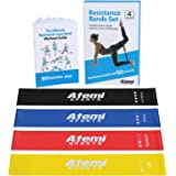 Atemi Sports Resistance Bands | Exercise Bands Set Of 4 Mini Resistance Loops Plus 50-Exercise Workout Booklet | Quality Late