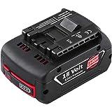 【Amazon限定ブランド】Reoben 互換品 ボッシュ バッテリー18v ボッシュ バッテリー 互換バッテリー 18v 6000mAh A1860LIB BAT609 BAT610 BAT618 対応 互換 大容量 6000mAh 18V 互換品