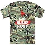 Mens Eat Sleep Hunt Funny Deer Hunting Camouflage Print T shirt