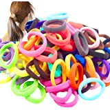100pcs Solid Colors Seamleass No Crease 4cm Elastic Hair Ties Pigtail Ties HairBands Ponytail Holders Hair Ropes Hair Accesso