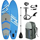 Premium Inflatable Stand Up Paddle Board (6 inches Thick) with Durable SUP Accessories & Carry Bag | Wide Stance, Surf Contro