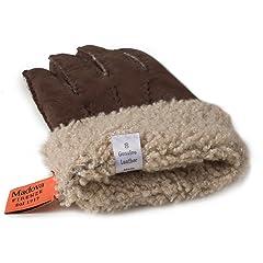 Shearling Gloves: Dark Brown
