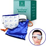 Single Moist Heat Eye Compress Pad - Microwavable, Eye Mask for Dry Eye | Good for Pink Eye, Blepharitis and Stye Treatment R