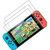3枚入り Nintendo Switch用 保護 ガラスフィルム 任天堂ニンテンドー スイッチ ブルーライトカット 日本硝子素材 強靭9H 3Dラウンドエッジ加工 撥水撥油 指紋防止 飛散防止 貼付道具付 ピタ貼り 自己吸著 気泡防止 極薄