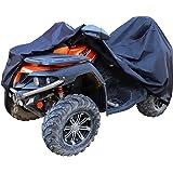 Amazonベーシック ATVカバー 標準 防水 150D オックスフォード ATV用 ブラック 最大約216cm