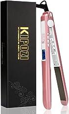 KIPOZI ヘアアイロン 25mm ストレート カール2way海外対応 プロ仕様230℃ LCDディスプレイ  マイナスイオ ン 自動OFF