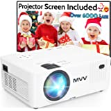 MVV Mini Projector, 200 ANSI Lumens [Brightness Over 5500 Lux] 1080P Supported Outdoor Movie Projector, 260''Display Compatib