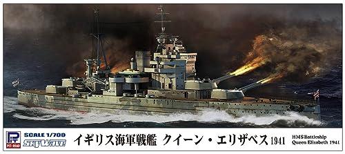 ピットロード 1/700 スカイウェーブシリーズ イギリス海軍 戦艦 クイーン・エリザベス 1941 プラモデル W206