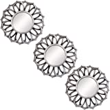 Small Round Decor Wall Mirrors Set of 3 Home Accessories for Bedroom, Living Room & Dinning Room (MS003)