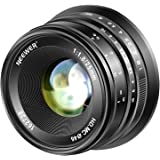 Neewer 25mm f/1.8大口径広角レンズ マニュアルフォーカスプライム固定レンズ Olympus Panasonic Micro 4/3マウントミラーレスカメラに対応 APS-CライブMOSセンサー