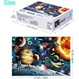 GARUNK Jigsaw Puzzles 1000 Pieces for Adults - Planets in Space - Large Puzzle Game Artwork for Adults Teens