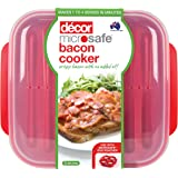 Decor Microsafe Oil-Free Microwave Bacon Cooker, Red