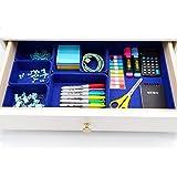 KUBIN オフィス フェルト 整理収納ボックス 引き出し小物 文房具収納 7個 (クラシックブルー)