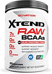 Scivation Xtend Raw BCAA Powder, Unflavored, 30 Servings