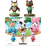 Animal Crossing Series 3-Pack Amiibo (Animal Crossing Series) - Tom Nook - Blathers Amiibo Bundle for Nintendo Switch - 3DS -