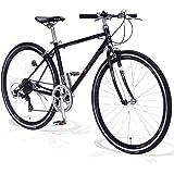 FORTINA(フォルティナ) FT5007 クロスバイク 700C シマノ 7段変速付 軽量設計 自転車 フレームサイズ430 エアロリム クイックレリーズ 高さ調整ハンドル 男女兼用