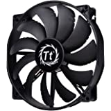 Thermaltake 200mm Pure 20 Series Black 200x30mm Thick Quiet High Airflow Case Fan with Anti-Vibration Mounting System Cooling