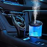 Car Diffusers for Essential Oils,USB Car Oil Diffusers,Portable Car Essential Oil Diffuser with 7 Color Light,Mini Travel Dif