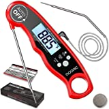 Meat Thermometer, Instant Read Cooking Grill Thermometer with Dual Probe, Kitchen Food Thermometer with Alarm Setting, Backli