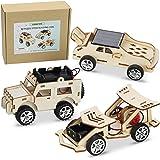 CYZAM DIY STEM Science Experiments Kits, 3D Puzzle Wooden Models Building Toys, DIY Solar Power Car STEM Projects for Kids Bo