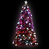 7FT Christmas Tree 2.1M Pre-lit Optic Fibre Xmas Faux Tree Multi-colour Lighting Effect Jingle Jollys Holiday Decoration Indo