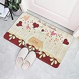Sunm Boutique Valentine's Day Doormat Be My Valentine Indoor Outdoor Doormat Durable Flannel Doormat for Valentines Decoratio