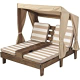KidKraft Double Chaise Lounge with Cup Holders, Espresso, 36.5 x 35.1 inches (00534)