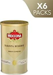 Moccona Coffee Wholebean Barista Reserve Smooth Espresso (175g x 6 Packs)