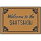 Awater Welcome to The Shitshow Doormat Entrance Floor Mat Funny Doormat Door Mat Decorative Indoor Outdoor Doormat 23.6 15.7