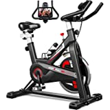YONKFUL Exercise Bike Indoor Cycling Bike for Workout Fitness Adjustable Stationary Bicycle Home Gym Equipment Cardio Bikes w