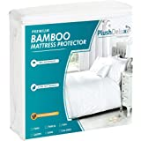 PlushDeluxe Crib Mattress Protector Bamboo, Bamboo, Queen, Queen