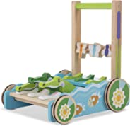 "Melissa & Doug First Play Chomp & Clack Alligator Push Toy, Developmental Toy, 15"" H x 15"" W x 11.75"" L"