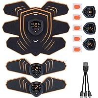腹筋ベルト EMS 筋力トレーニング 男女兼用 筋肉トナー ダイエット器具 静音 自動的 液晶画面 LEDライト 6種類…
