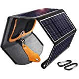 Solar Panel, CHOETECH 22W Foldable Solar Charger with Dual USB Ports Waterproof Phone Charger Portable Outdoor Solar Charge f