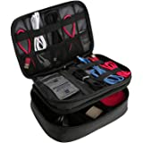 ProCase Electronics Travel Organizer Storage Bag, Double Layer Universal Traveling Gear Accessories Carrying Case Pouch for i