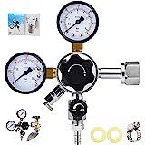 MRbrew Keg Regulator CO2, Kegerator Regulator CGA-320, 0-60 PSI Working Pressure, 0-3000 PSI Tank Pressure, Beer Regulator, C