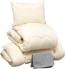 アイリスプラザ 布団セット 増量タイプ 洗える ほこりの出にくい布団 きめ細やかなピーチスキン加工 低ホルムアルデヒド仕様 収納ケース付