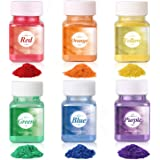 Wtrcsv Colored Mica Powder for Soap Making(Total 120g/4.2oz) Bath Bomb Dye Coloring Powdered Pigments Set for Makeup, Bath Bo