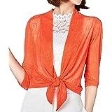 Maweisong Women Half Sleeve Open Fornt Mesh Irregular Cardigan