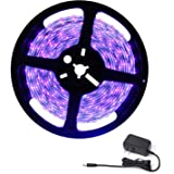 Deep Dream UV Black Light Led Strip 16.4Ft/5M 3528 300LEDs Flexible Waterproof IP65 BlackLight Night Fishing Sterilization im