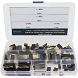 Didamx 120Pcs 2.54MM 6Pin 8Pin 10Pin 10MM Long Needle Female Pin/Double Row 3-Pins Header Strip Stackable Header for arduino
