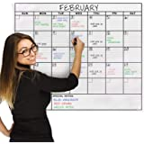 Jumbo Dry Erase Laminated Wall Calendar, Huge 36-Inch by 48-Inch Size, Monthly Planner for Home Office Classroom, Large Date