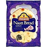 Mission Naan Bread, Garlic, 4 Naans (280g)